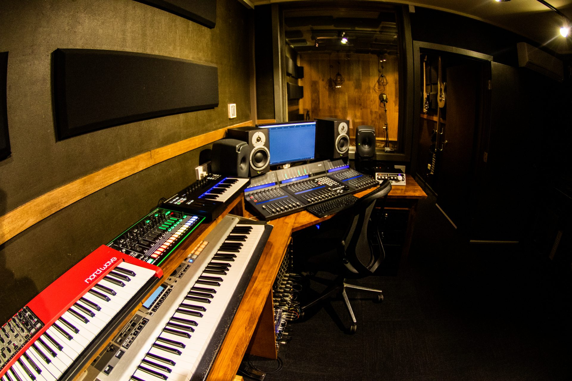 Mixing Desk and Recording Booth